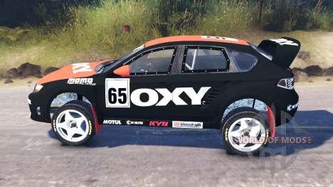 Subaru Impreza WRX para Spin Tires