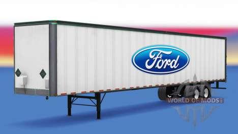La piel de Ford en el remolque para American Truck Simulator