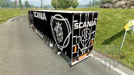 Cortina semi-remolque Scania V8 para Euro Truck Simulator 2