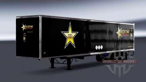 De metal semi-Rockstar Energy para American Truck Simulator