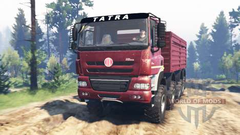Tatra Phoenix T 158 8x8 v5.0 para Spin Tires