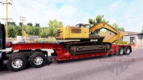 Baja de barrido con carga sobredimensionada para American Truck Simulator
