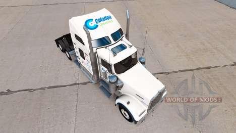 La piel Celadón de la Logística en el camión Ken para American Truck Simulator