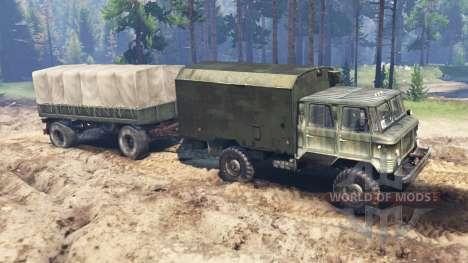 GAZ-66 [doble cabina] v2.0 para Spin Tires