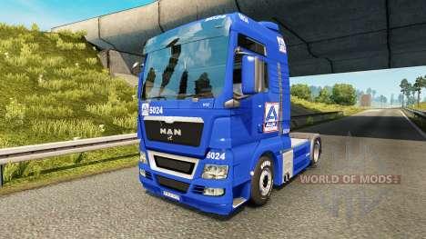 Aldi piel para HOMBRE camión para Euro Truck Simulator 2