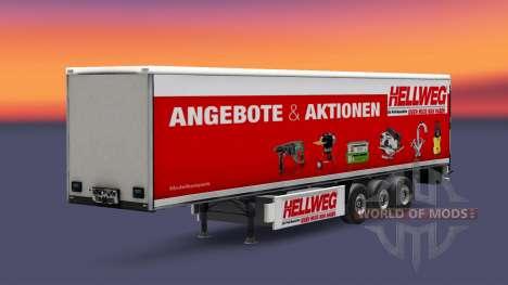 Una colección de pieles en la isométrica semi-re para Euro Truck Simulator 2