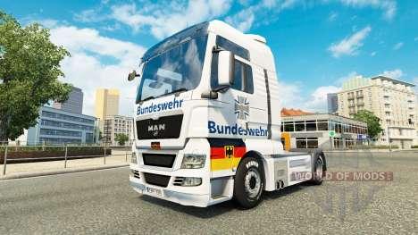 Ejército skin for MAN truck para Euro Truck Simulator 2