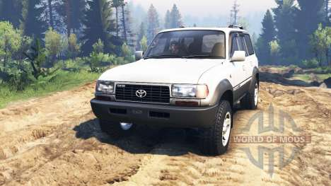 Toyota Land Cruiser 80 VX 1990 v2.0 para Spin Tires