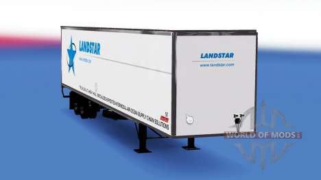La piel Landstar en el remolque para American Truck Simulator