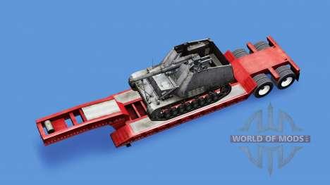 Baja de barrido con una carga de SPG Hummel para American Truck Simulator
