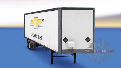 La piel de Chevrolet en el remolque para American Truck Simulator