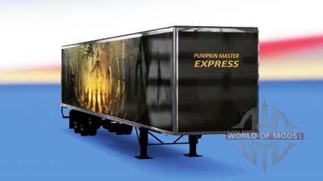 Todo el metal-semirremolque de Calabaza para American Truck Simulator
