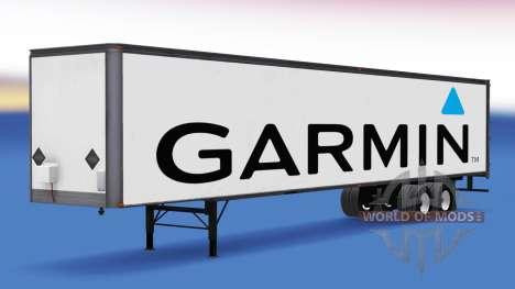 De metal semi-Garmin para American Truck Simulator