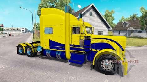 La piel de color Amarillo y Azul para el camión  para American Truck Simulator