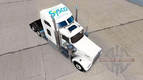 La piel de la Sysco camión Kenworth W900 para American Truck Simulator