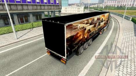 La piel de World of Tanks en semi-remolques para Euro Truck Simulator 2