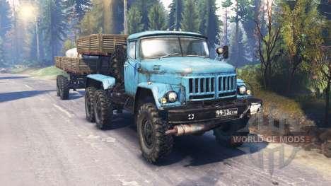 ZIL-137-137Б [azul] v2.0 para Spin Tires