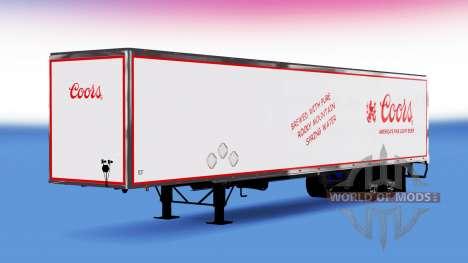 De metal semi remolque Coors para American Truck Simulator