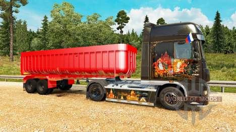 El semirremolque-volcado de v2.0 para Euro Truck Simulator 2