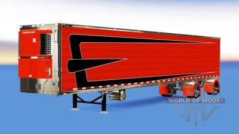 Personalizado remolque refrigerado para American Truck Simulator