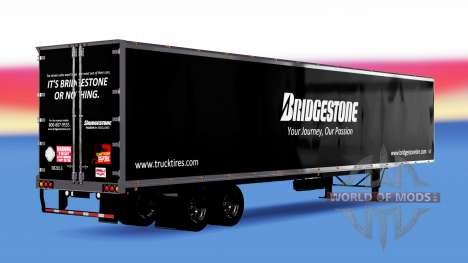 De metal semi-Bridgestone para American Truck Simulator
