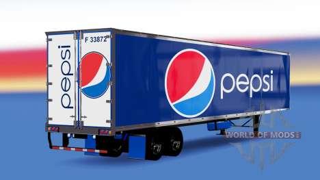 De metal semi-remolque de Pepsi para American Truck Simulator