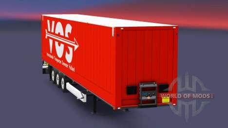 Semitrailer Corona Dry Liner para Euro Truck Simulator 2