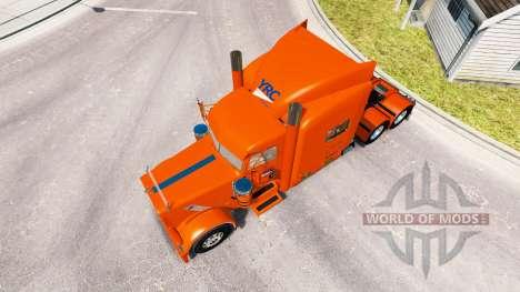 La piel YRC Freight para el camión Peterbilt 389 para American Truck Simulator