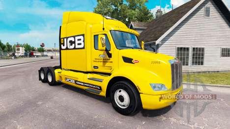 JCB piel para el camión Peterbilt para American Truck Simulator