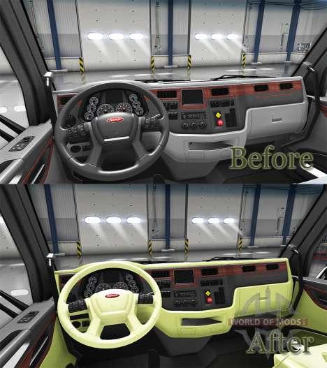 Crema de interior Peterbilt 579 para American Truck Simulator