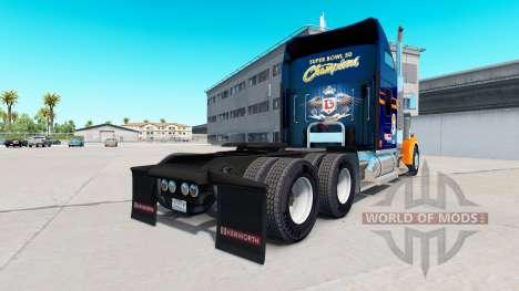 La piel de los Denver Broncos en el camión Kenwo para American Truck Simulator