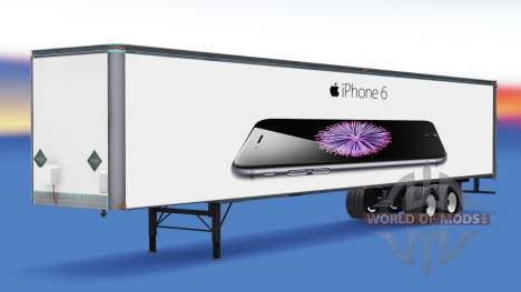 De metal semi-remolque iPhone 6 para American Truck Simulator