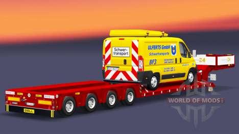 Bajo la cama de arrastre de la Muñeca con una ca para Euro Truck Simulator 2