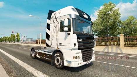 Lil Diablo de la piel para DAF camión para Euro Truck Simulator 2