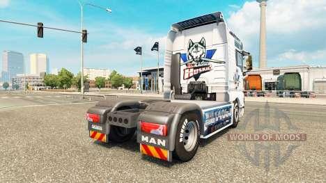 La piel de la CE Kassel Huskies en el tractor HO para Euro Truck Simulator 2