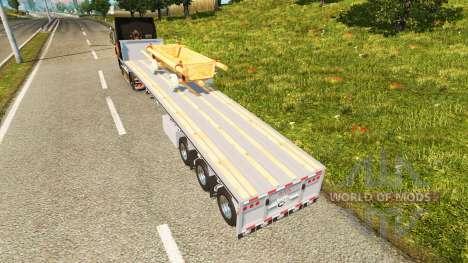 La semi-plataforma con el carro para Euro Truck Simulator 2
