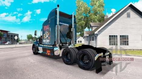 La piel de AC-DC tractor Peterbilt 386 para American Truck Simulator