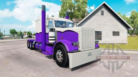 La piel de color Morado y Blanco para el camión  para American Truck Simulator