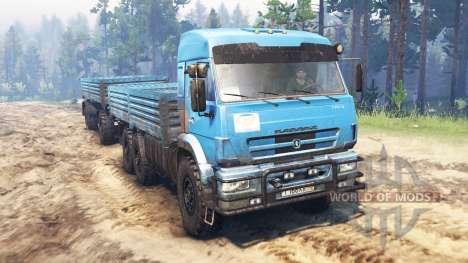 KamAZ-43118 v10.0 para Spin Tires