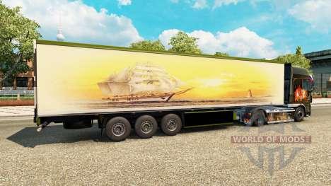 La piel Meridianas en el remolque para Euro Truck Simulator 2