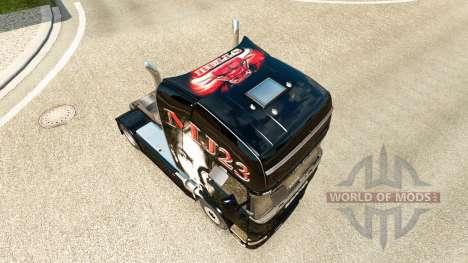 La piel MJBulls en el tractor Scania para Euro Truck Simulator 2