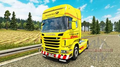 La piel de DHL para Scania camión para Euro Truck Simulator 2