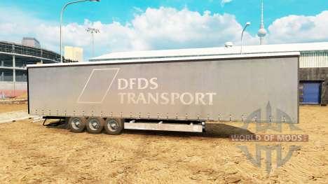 Semitrailer Corona Paperliner para Euro Truck Simulator 2