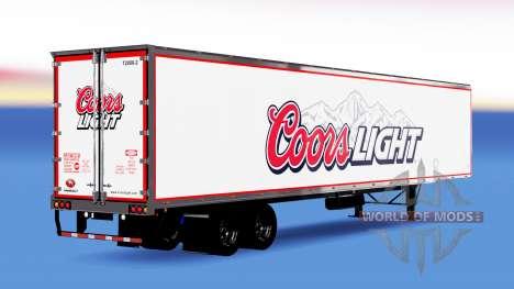 De metal semi-Coors Light para American Truck Simulator