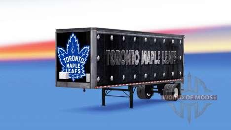 La piel Toronto Maple Leafs en el remolque para American Truck Simulator