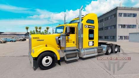 La piel tractor JCB Kenworth W900 para American Truck Simulator