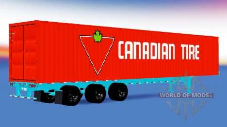 Una colección de trailers, estados UNIDOS para American Truck Simulator