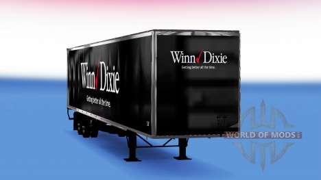 De metal semi-Winn Dixie para American Truck Simulator