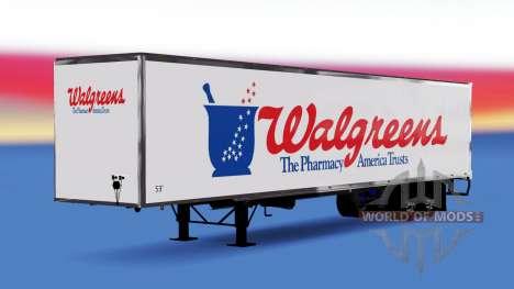 De metal semi-Walgreens para American Truck Simulator