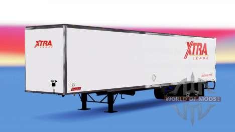 De metal semi-remolque Xtra contrato de Arrendam para American Truck Simulator